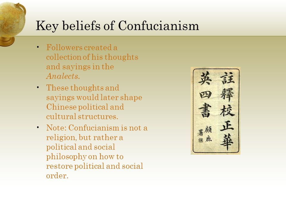 Key beliefs of Confucianism