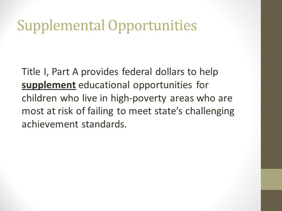 Supplemental Opportunities