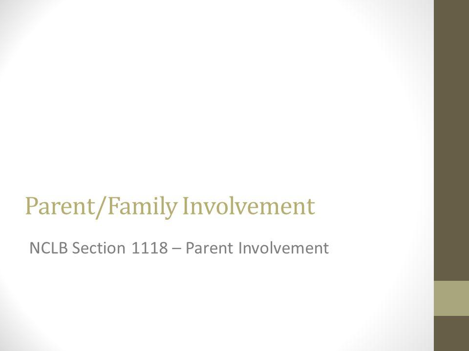 Parent/Family Involvement