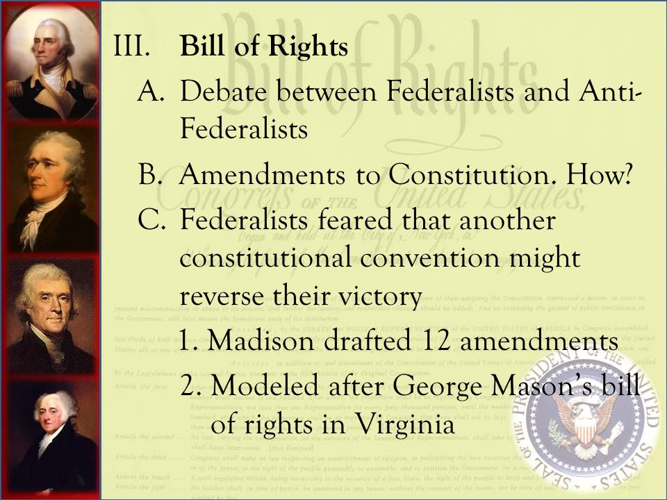 What is the difference between the Bill of Rights and the Constitution?
