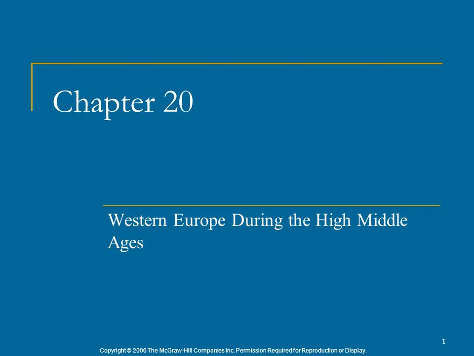 Western Europe During the High Middle Ages
