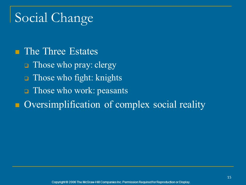Social Change The Three Estates