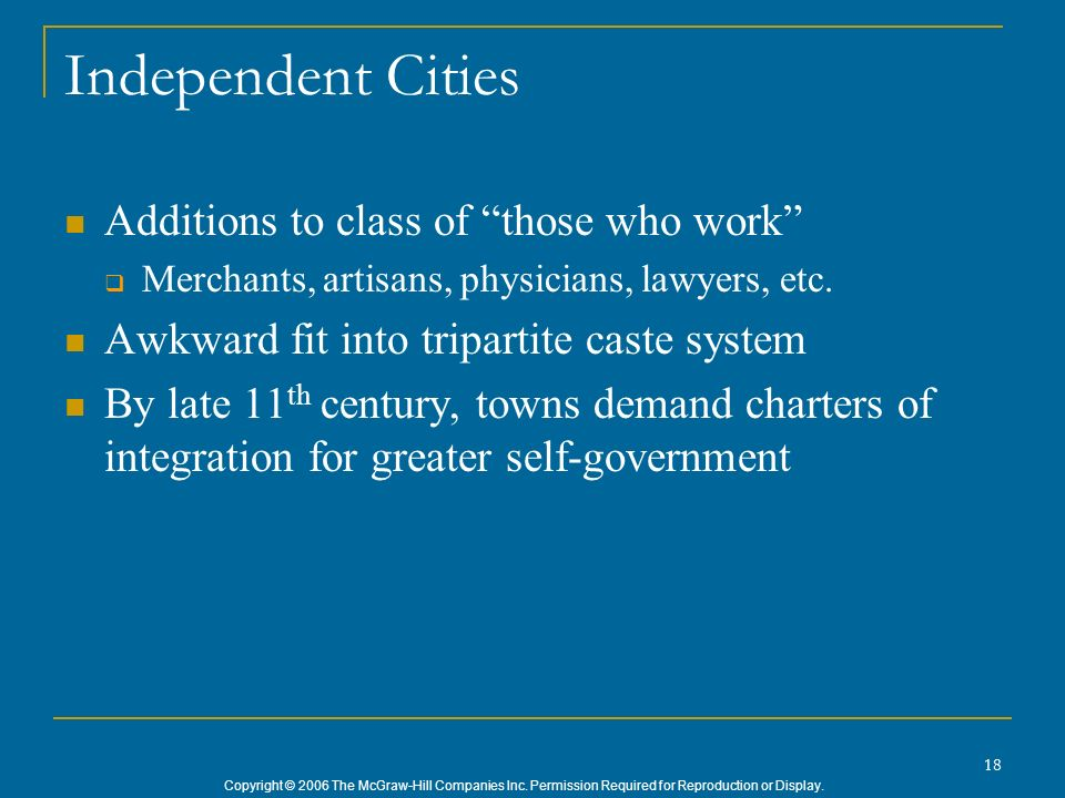 Independent Cities Additions to class of those who work
