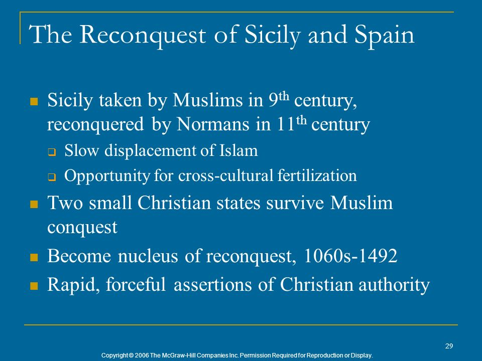 The Reconquest of Sicily and Spain
