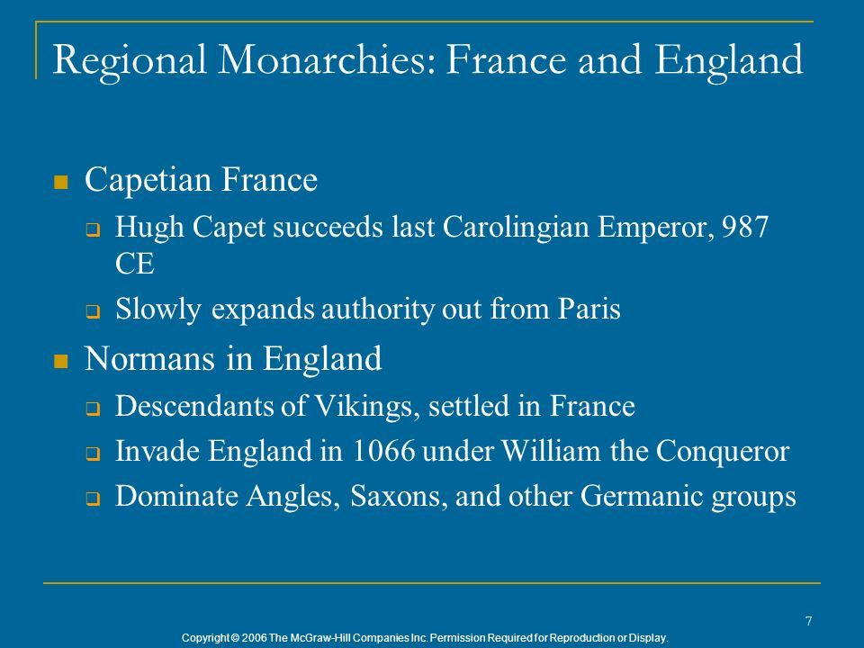Regional Monarchies: France and England