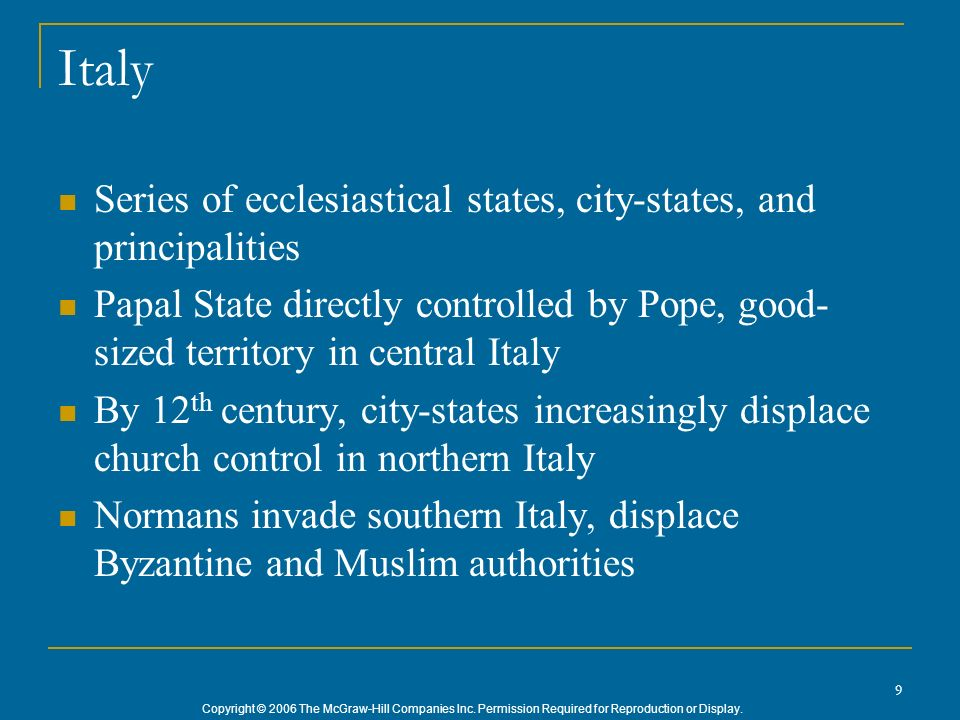 Italy Series of ecclesiastical states, city-states, and principalities