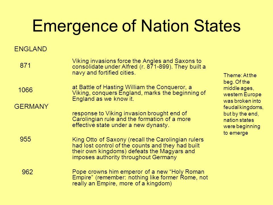 Emergence of Nation States