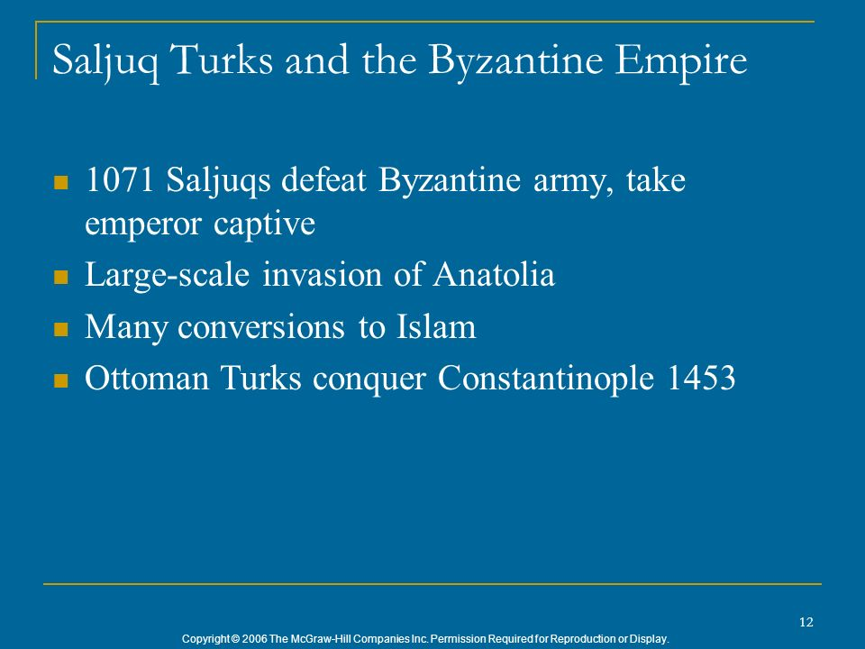 Saljuq Turks and the Byzantine Empire