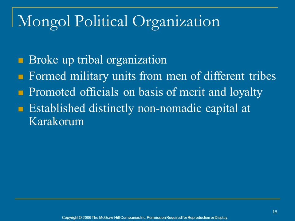 Mongol Political Organization