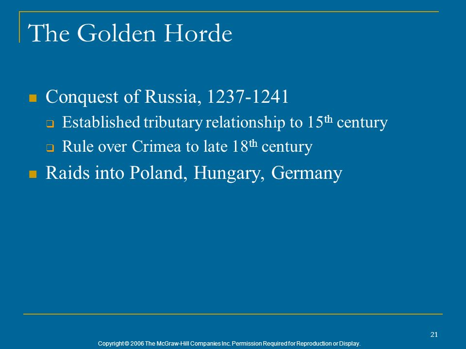 The Golden Horde Conquest of Russia, 1237-1241
