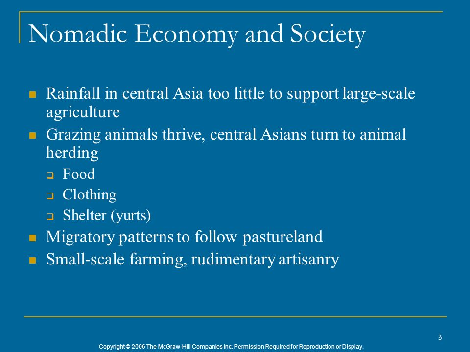 Nomadic Economy and Society