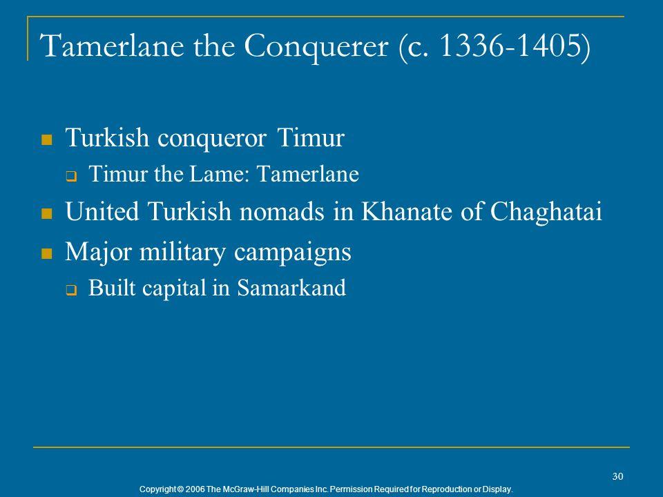 Tamerlane the Conquerer (c. 1336-1405)