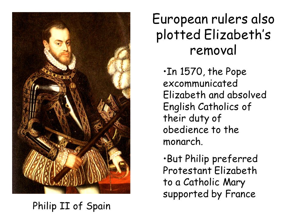 European rulers also plotted Elizabeth's removal