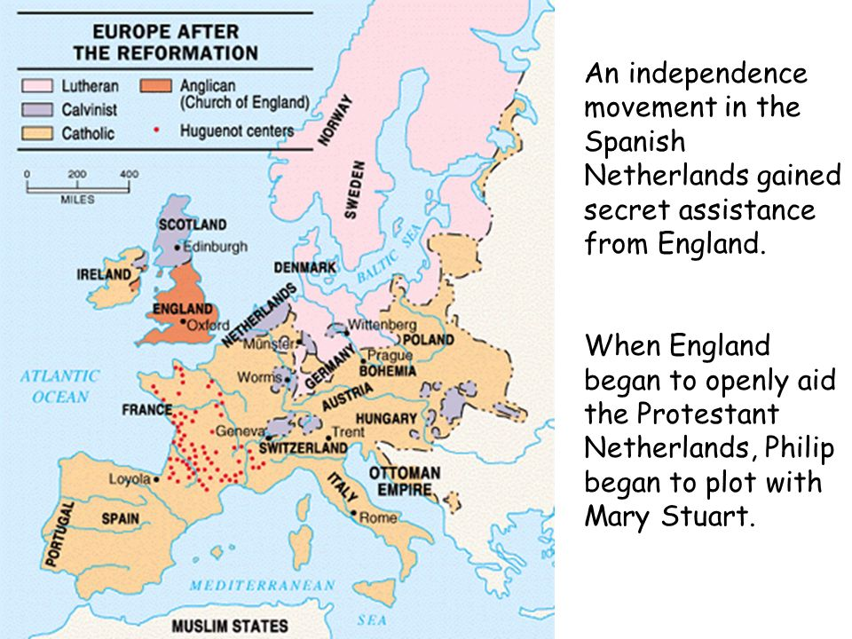 An independence movement in the Spanish Netherlands gained secret assistance from England.