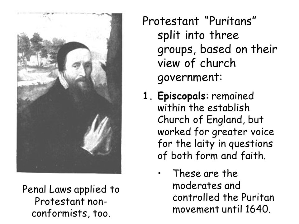 Penal Laws applied to Protestant non-conformists, too.