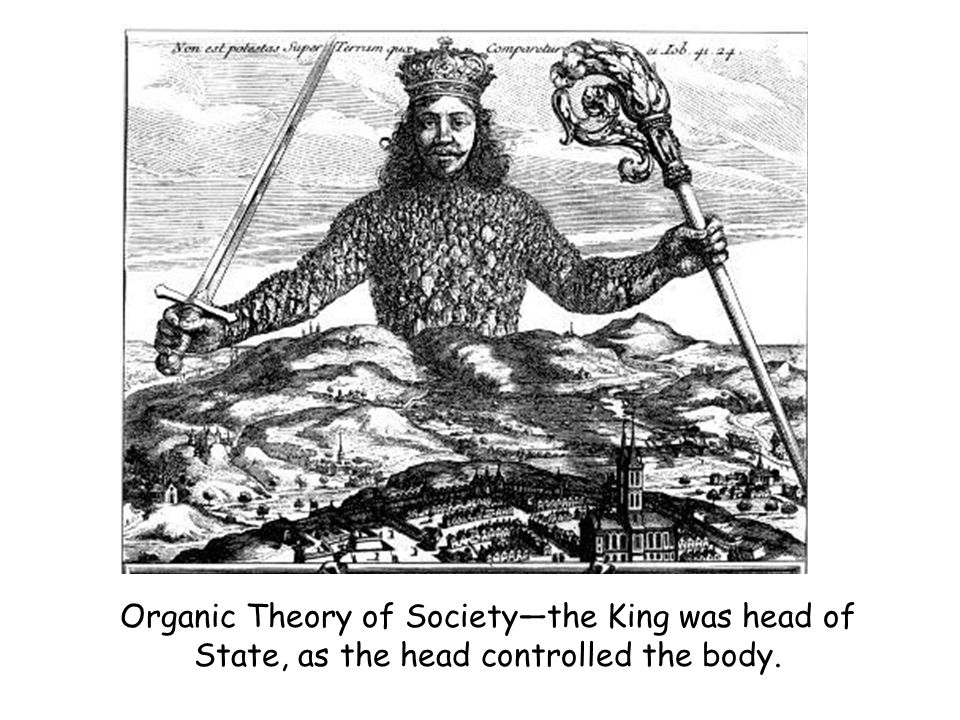 Organic Theory of Society—the King was head of State, as the head controlled the body.