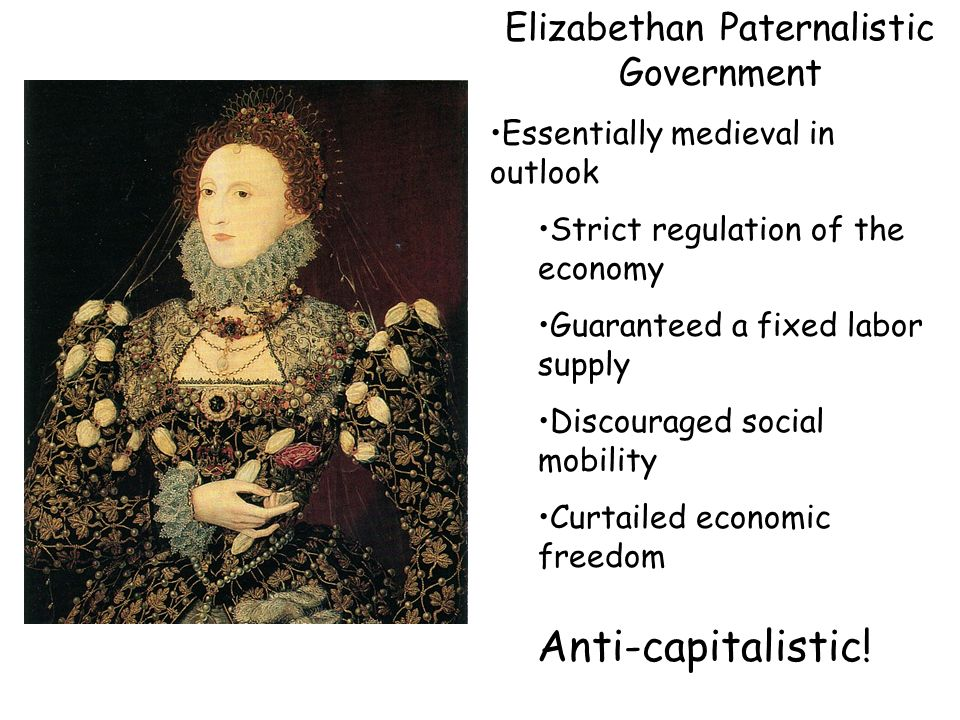 Elizabethan Paternalistic Government