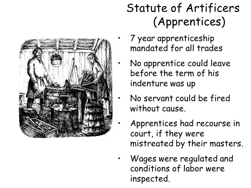 Statute of Artificers (Apprentices)