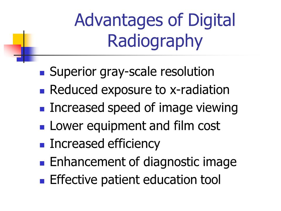 advantage of computer radiation The advantages and disadvantages of direct radiology and computed radiography in general radiography imaging  introduction: the innovation of the computer radiography (cr) and direct radiography (dr) bring a digital evolution in medical imaging in the past two decades.