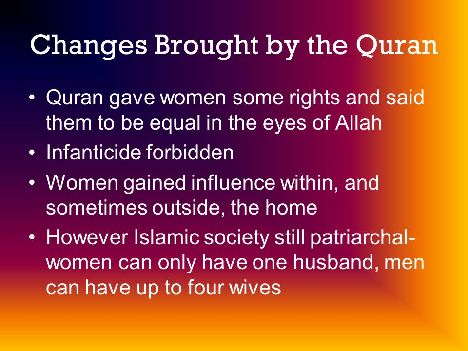 Changes Brought by the Quran