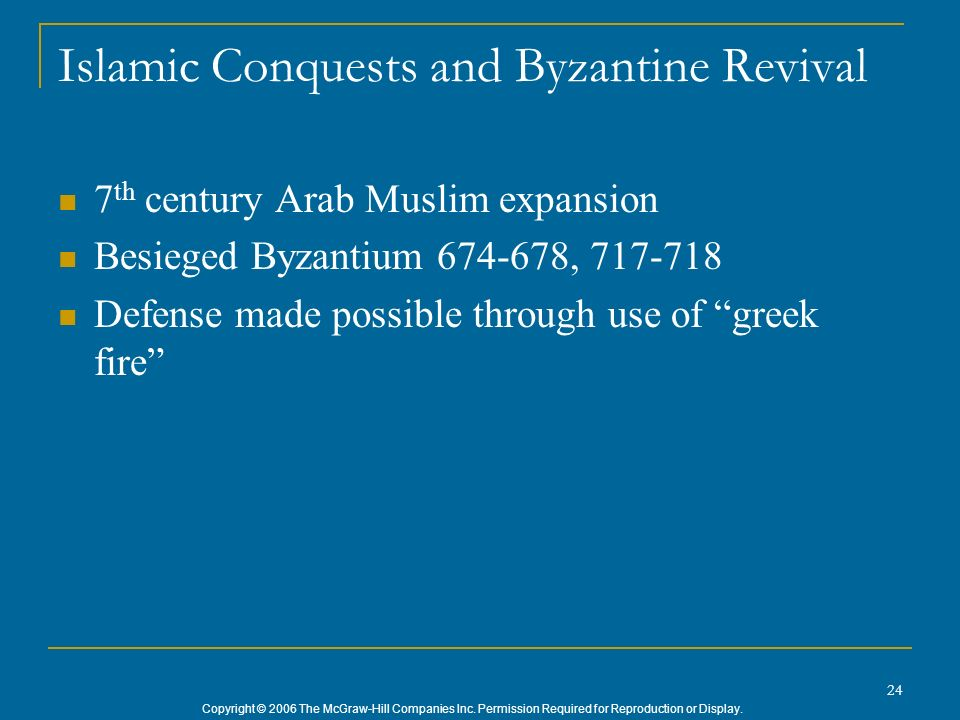 Islamic Conquests and Byzantine Revival