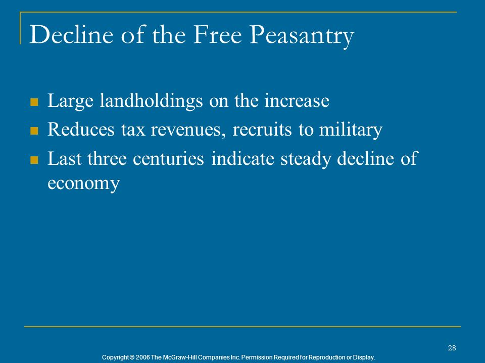Decline of the Free Peasantry