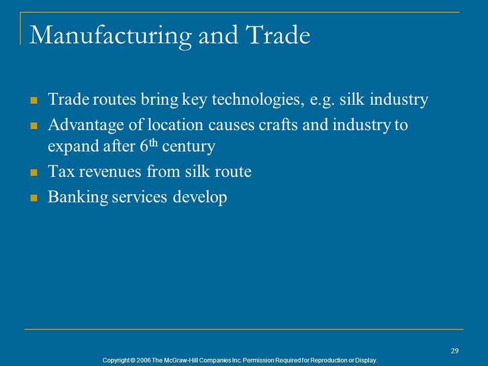 Manufacturing and Trade