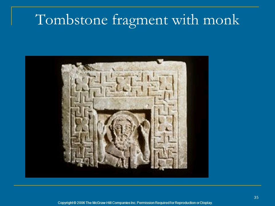 Tombstone fragment with monk