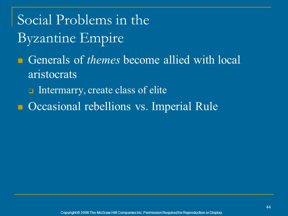 Social Problems in the Byzantine Empire