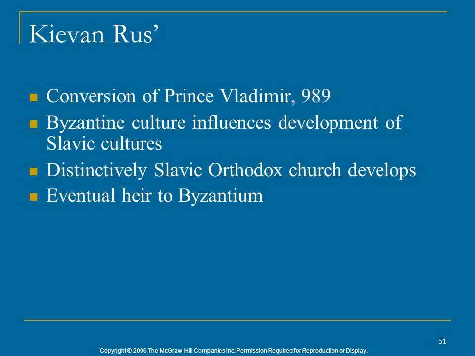Kievan Rus' Conversion of Prince Vladimir, 989