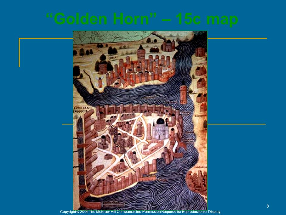 Golden Horn – 15c map