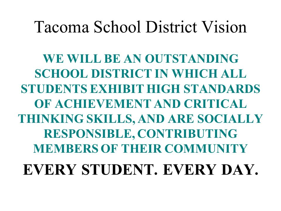 Tacoma School District Vision