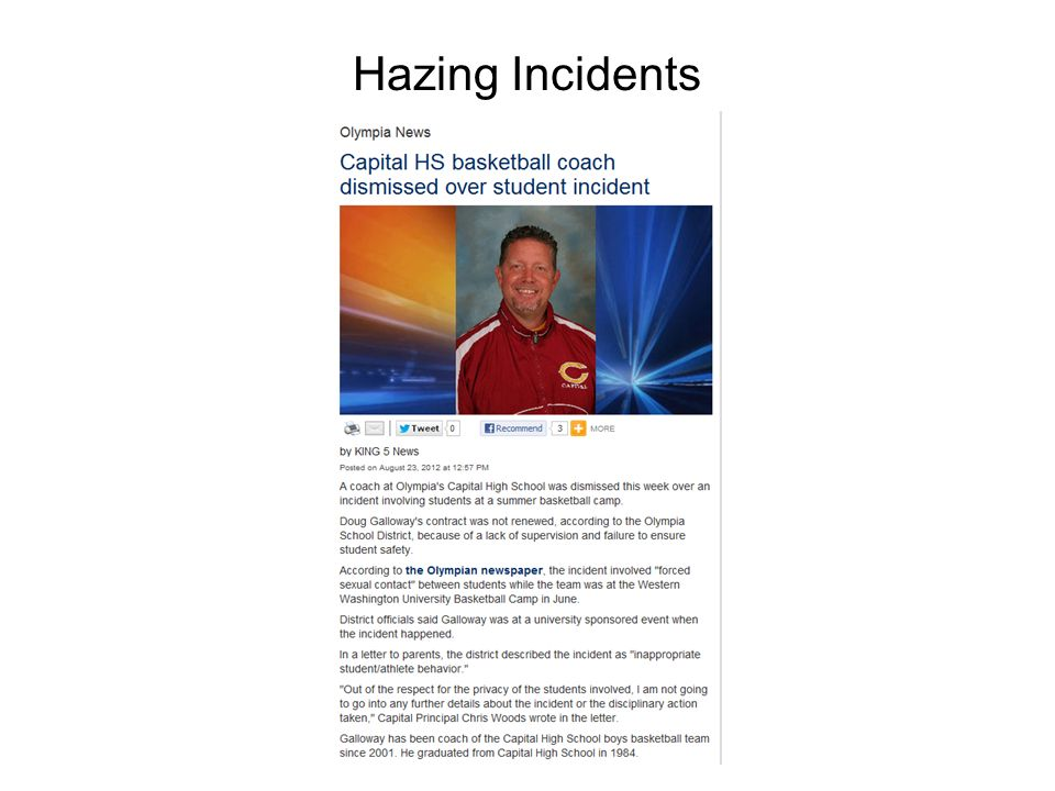 Hazing Incidents