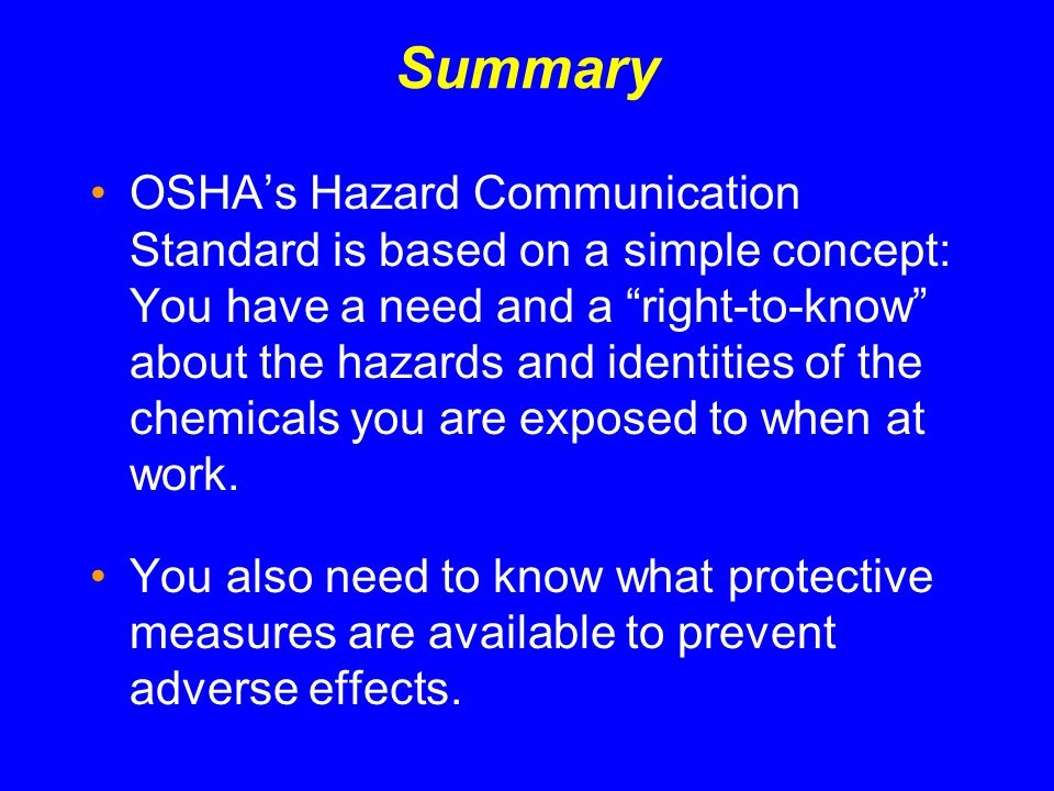 osha s revised hazard communication standard ppt video online download. Black Bedroom Furniture Sets. Home Design Ideas