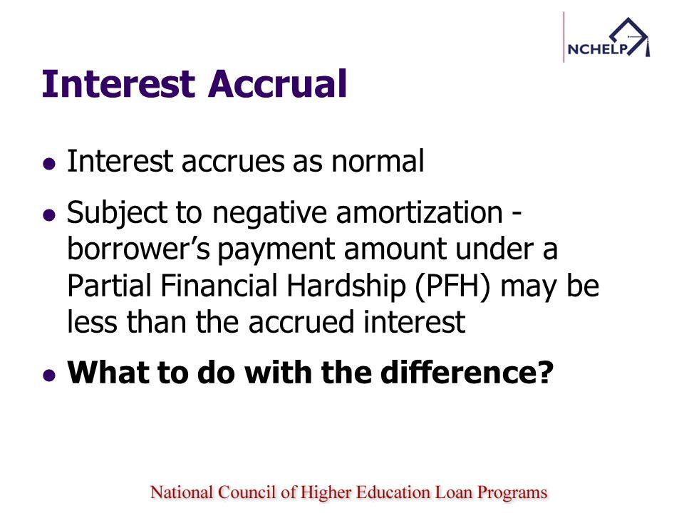 Interest Accrual Interest accrues as normal