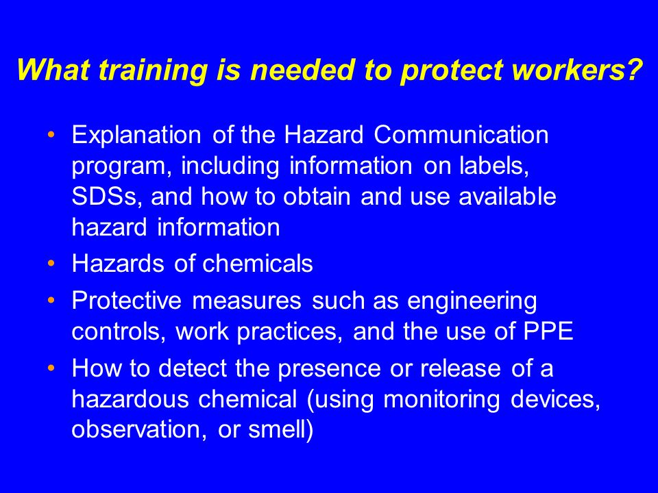 What training is needed to protect workers
