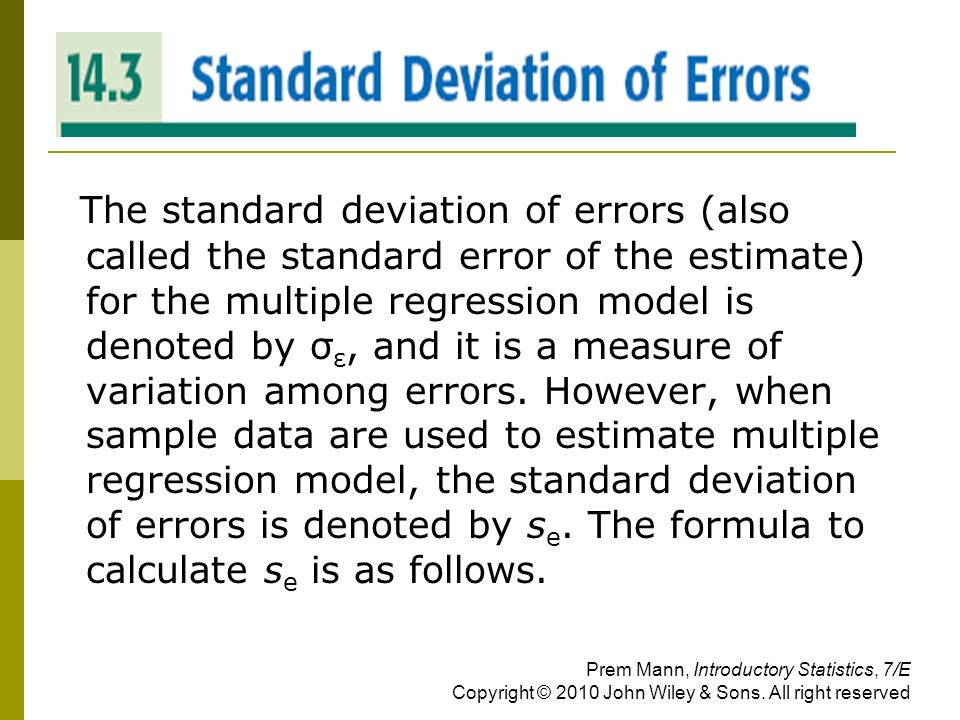how to calculate standard error from a data set