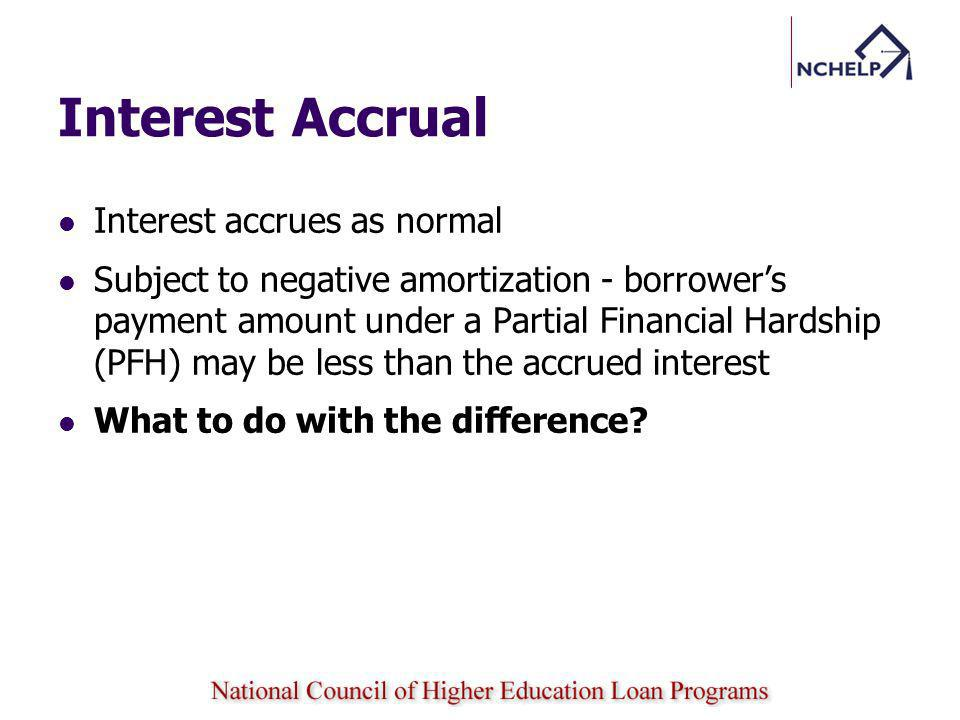 Interest Accrual Interest accrues as normal