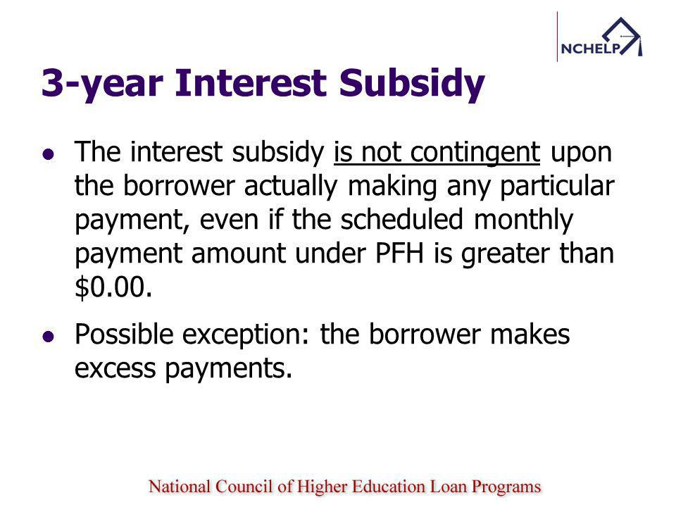3-year Interest Subsidy