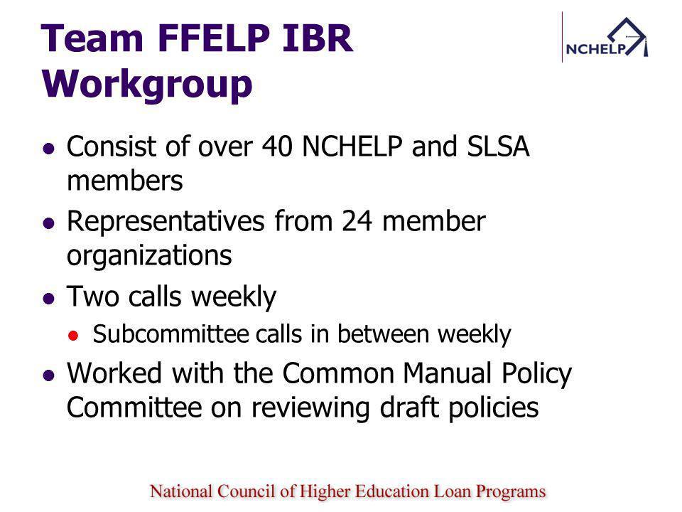 Team FFELP IBR Workgroup