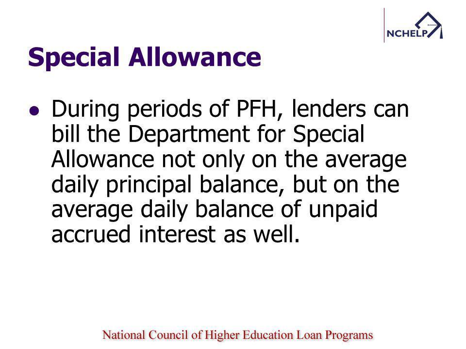 Special Allowance