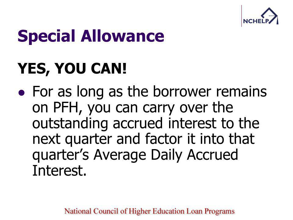 Special Allowance YES, YOU CAN!