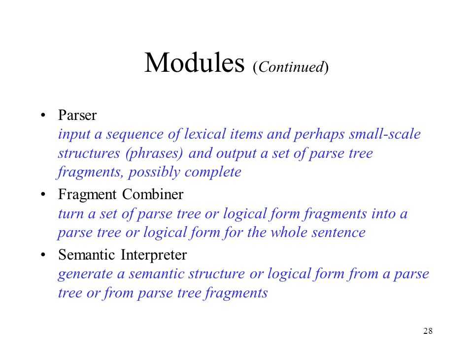 Modules (Continued)