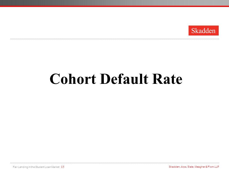 Cohort Default Rate