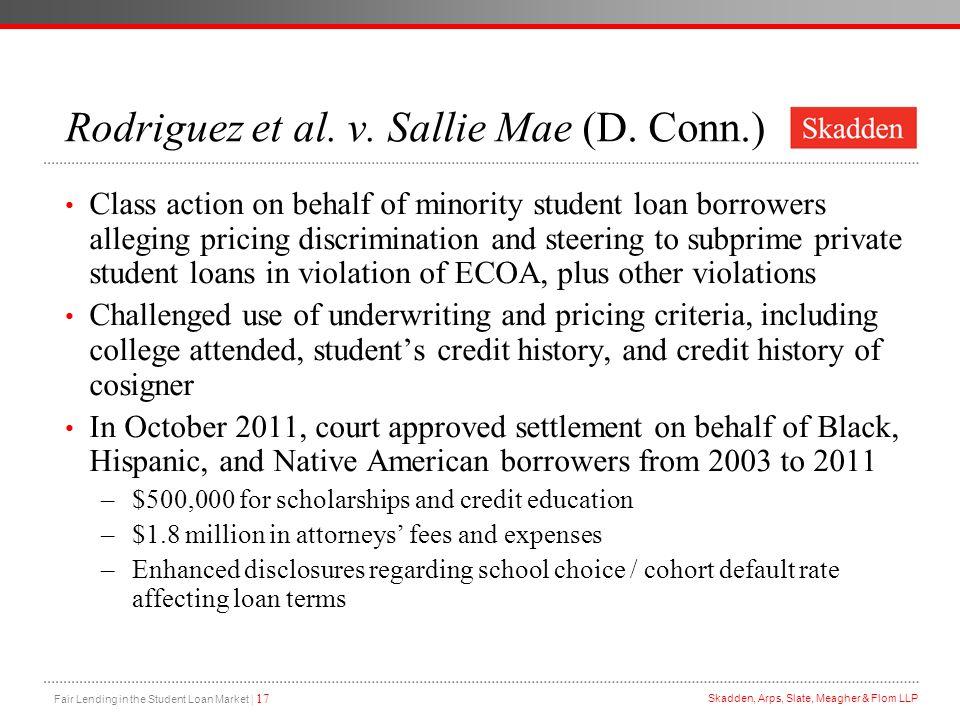 Rodriguez et al. v. Sallie Mae (D. Conn.)