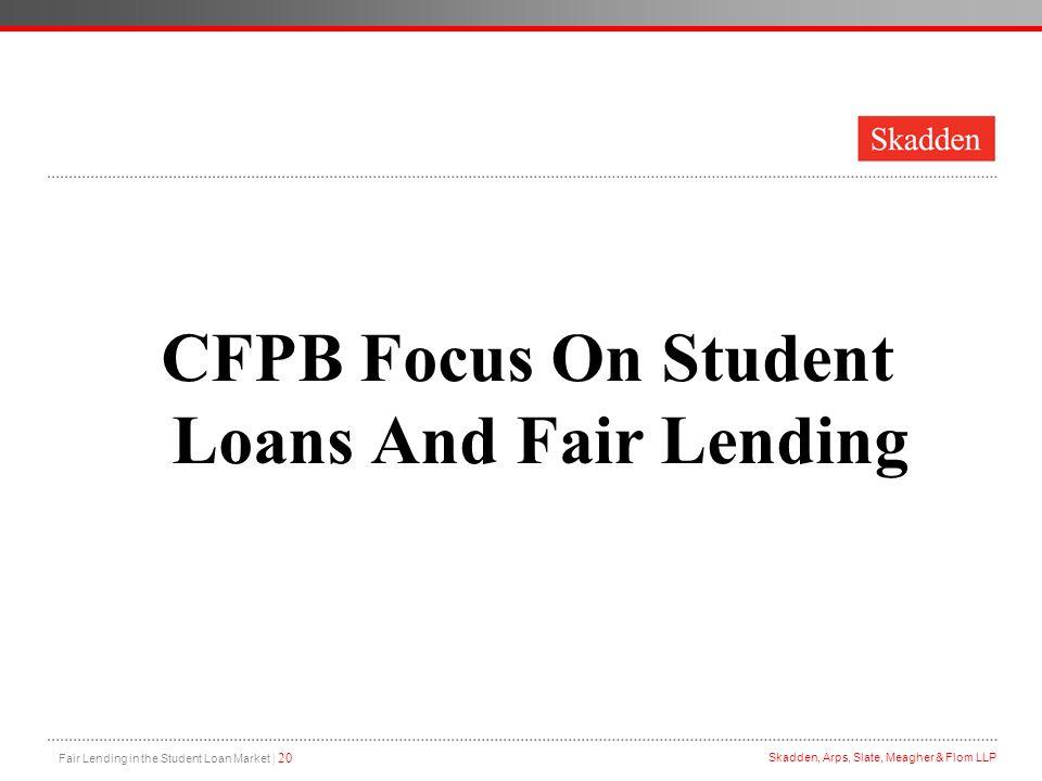 CFPB Focus On Student Loans And Fair Lending