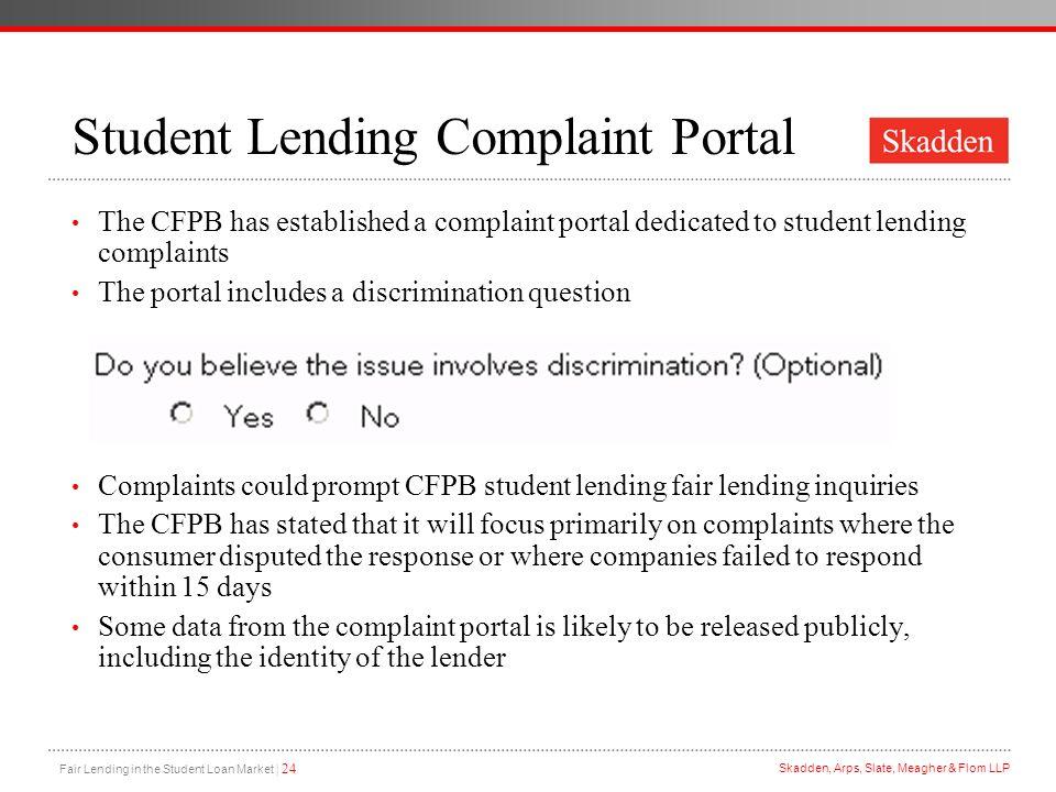 Student Lending Complaint Portal