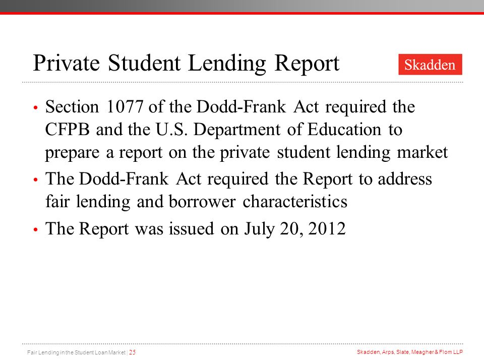 Private Student Lending Report