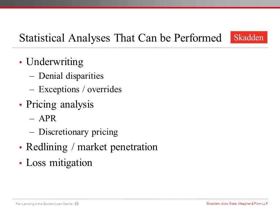 Statistical Analyses That Can be Performed