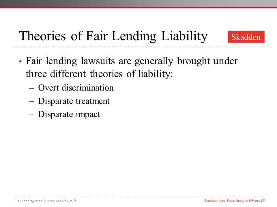 Theories of Fair Lending Liability